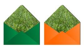 Grass envelopes Stock Photography