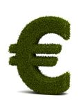 Grass Euro. Euro sign ( Computer generated image Stock Illustration