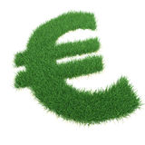 Grass euro sing. Computer generated image Stock Photo