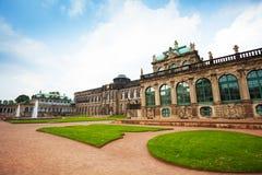 Grass and facade of the art gallery in Dresden Stock Photos