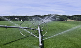 Grass Farm Irrigation Landscape Royalty Free Stock Photography