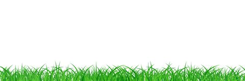 Grass field abstract background vector illustration in long hori. Zontal royalty free illustration