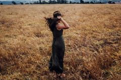 Grass, Field, Farm, People, Woman Royalty Free Stock Photo