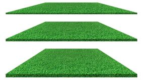 Grass field isolated on white background for golf course, soccer field or sports concept design. Artificial green grass stock photography