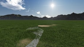 Grass field. Made in 3d software Stock Image
