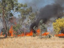 Grass fire near Alice Springs, Northern Territory Royalty Free Stock Photography