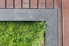 Grass and floor Royalty Free Stock Photography