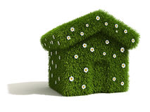 Grass and Flower Covered House.  Stock Images