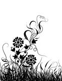 Grass and flower, vector Stock Photos