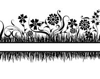 Grass and flower, vector Stock Images