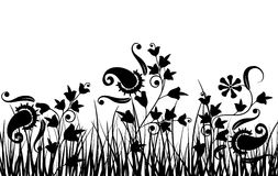 Grass and flower, vector royalty free stock image