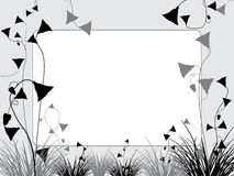Grass and flowers background Royalty Free Stock Images