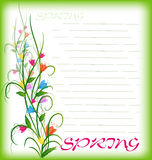 Grass With Flowers Set. Vector Illustration Royalty Free Stock Image