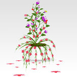 Grass With Flowers Set. Vector Illustration Stock Image