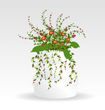 Grass With Flowers Set. Vector Illustration Stock Images