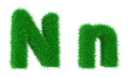 Grass font stock illustration