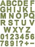 Grass font Stock Image