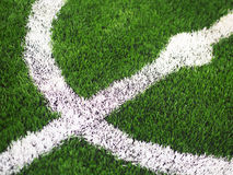 Grass football pitch Stock Photography