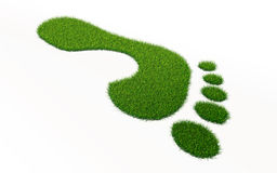 Grass footprint ecology concept Royalty Free Stock Images