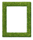 Grass Frame. Or green turf matted as a dimensional decorative symbol of nature and the environment also can relate to golfing concept or summer gardening with a Royalty Free Stock Images