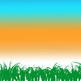 Grass of frame. On grass Royalty Free Stock Photo