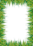 Grass frame. Illustration of abstract grass frame vector illustration