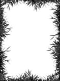 Grass Frame. Black and white Gras frame Royalty Free Stock Photos