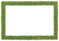 Grass frame. Frame and borders form by green grass royalty free stock photo