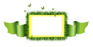 Grass frame Stock Photography