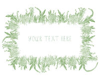 Grass frame background hand drawn Stock Photo