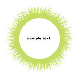 Grass frame circle. Vector illustration, circular frame, made of green grass; text holder Stock Images