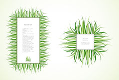 Grass Frames. Vector Royalty Free Stock Photography