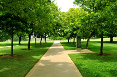 Grass with garden path Royalty Free Stock Photo