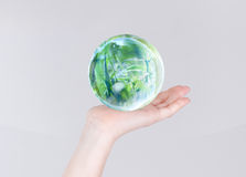 Grass in glass bubble Stock Image