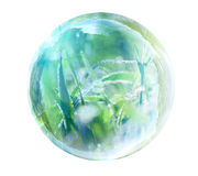 Grass in glass bubble Stock Images