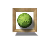 Grass globe in the box Stock Images