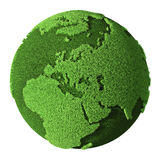 Grass Globe - Europe Stock Photo