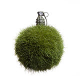 Grass Globe Grenade Royalty Free Stock Image