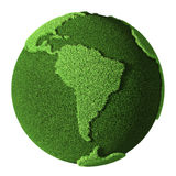 Grass Globe - South America Royalty Free Stock Photos