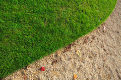 Grass and Gravel Stock Photography