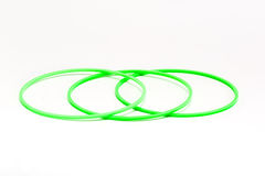Grass green color gasket  on white background Stock Photos