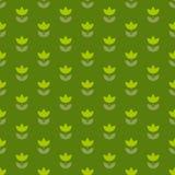 Grass green color Holland tulip repeatable motif. Stock Photo
