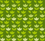 Grass green color Holland tulip repeatable motif. Royalty Free Stock Image