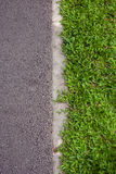 Grass green and road Royalty Free Stock Images