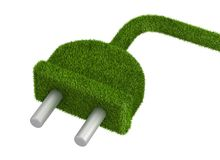 Grass grow on electrical plug Stock Images