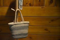 Grass handbag Royalty Free Stock Photo