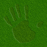 Grass Handprint Royalty Free Stock Photography