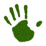 Grass Handprint Stock Images