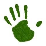 Grass Handprint Stock Images