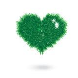 Grass heart shape illustration Royalty Free Stock Photography